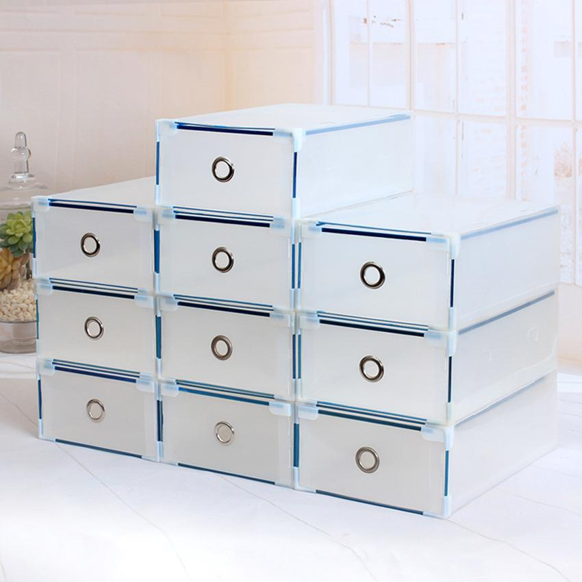 Rising Star Metal-Edged Transparent Clear Drawer Plastic Shoe Boxes By Rising Star.