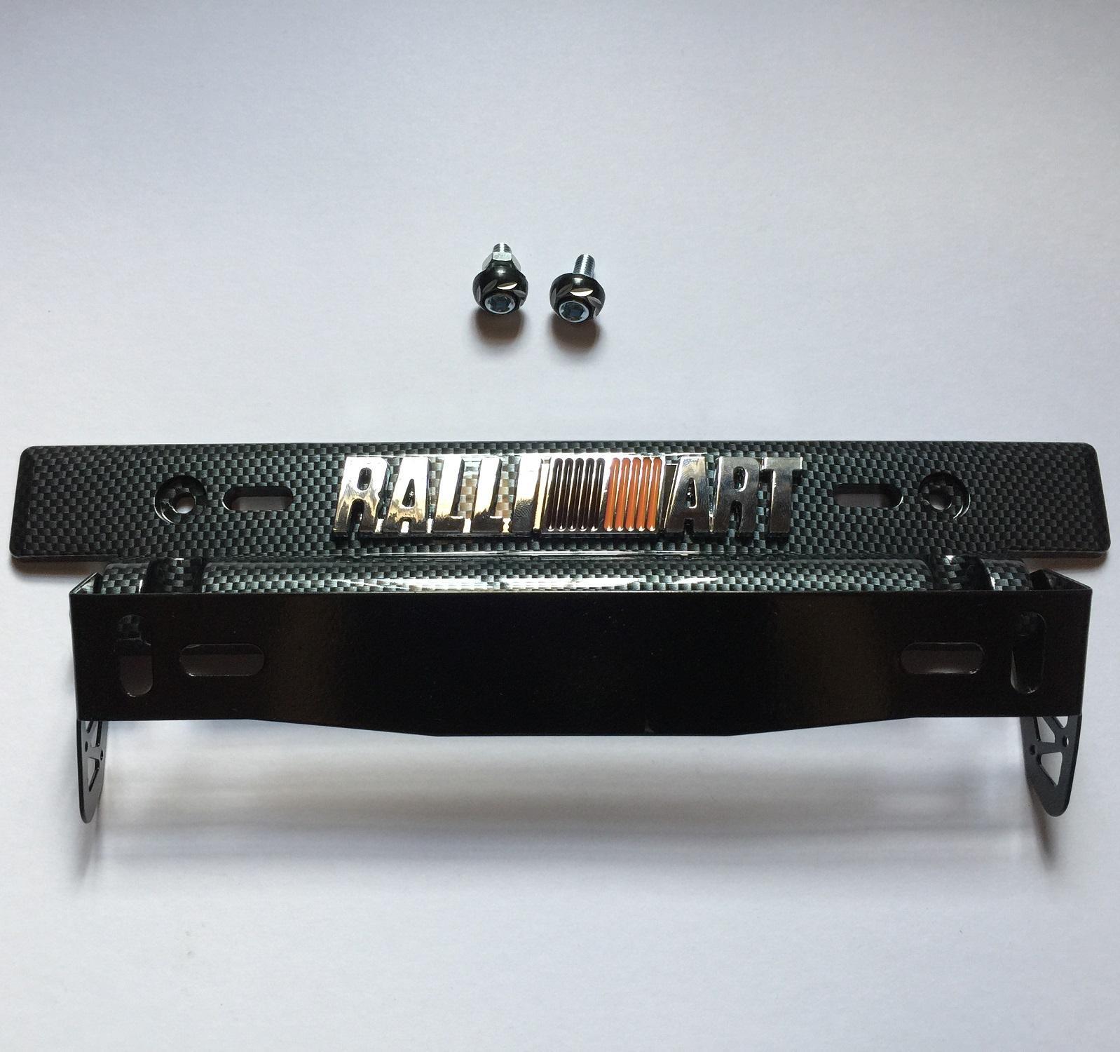 Ralli Art Car Tilting Plate Holder License Adjustable Carbon With 3d Emblem Metal By Melonetshoppinas.