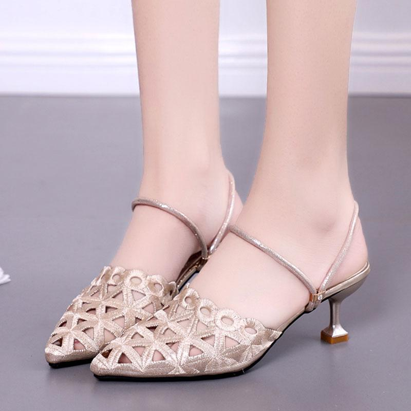 ae9d56fa722 Cool Shoes women Summer 2018 New Style High Heels Korean Style Versatile a  Shoes Double Purpose