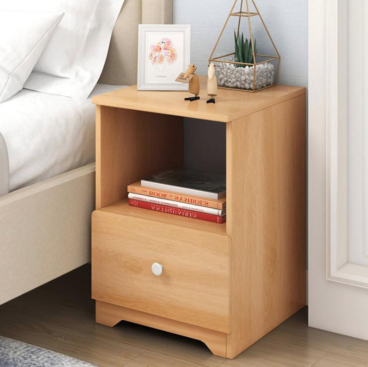Bed Side Table Cabinet Nightstand Night Table With Single Drawer