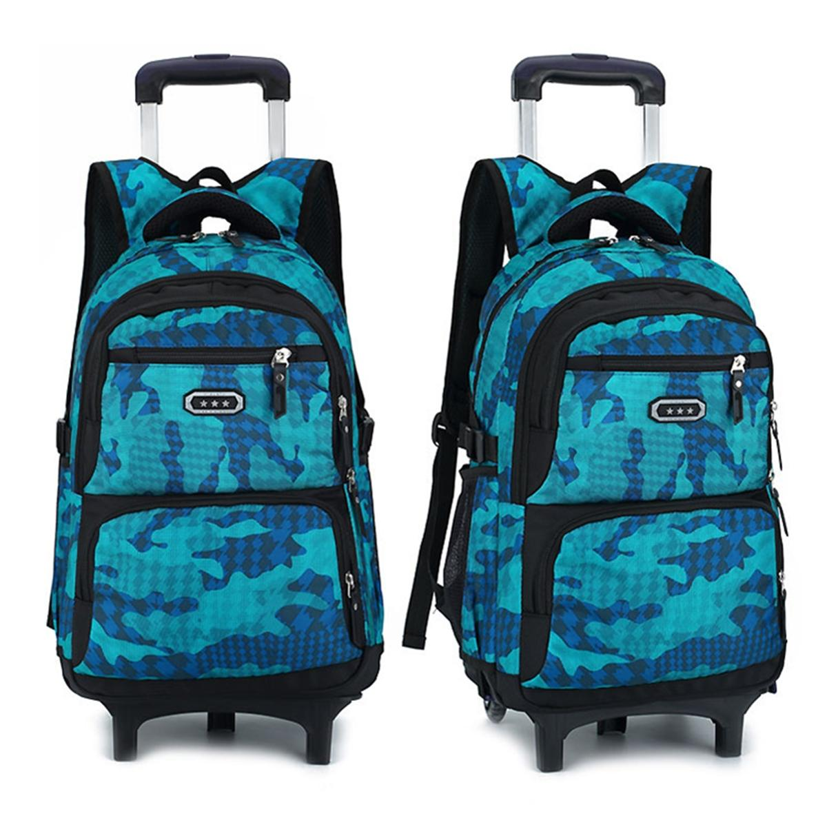 8f634efc88b5e Product details of Teenager Wheels Trolley Luggage Backpack Travel Rucksack  Pack Student School Bag  2 wheel
