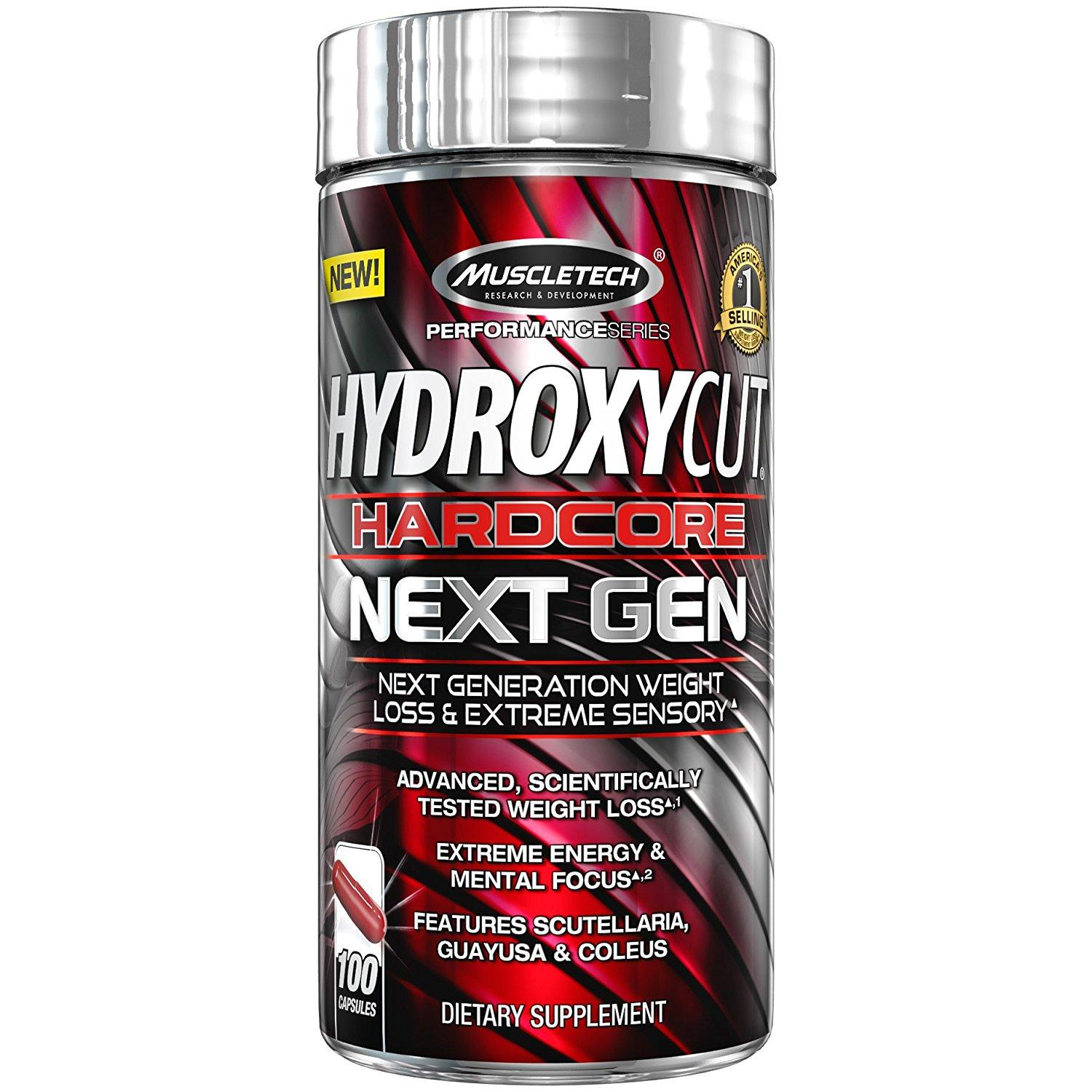 Muscletech Hydroxycut Hardcore Next Gen Capsules Bottle Of 100 By Supplyments.