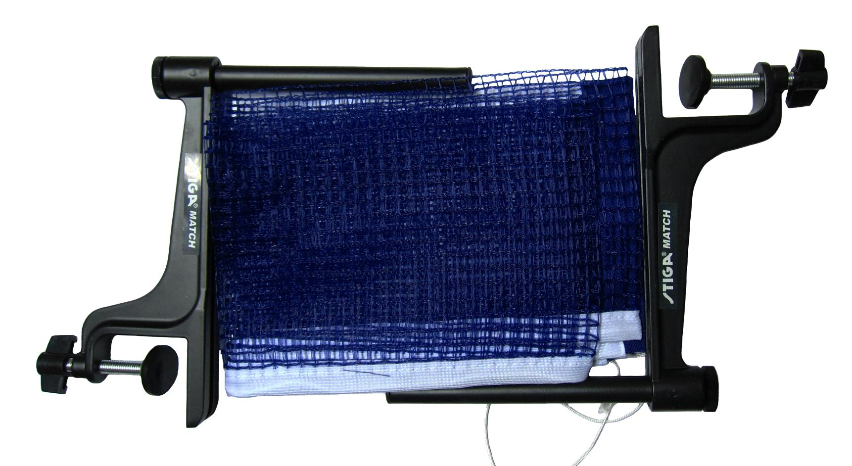 Stiga Match Net And Post Screw Type (blue) By Table Tennis Depot.