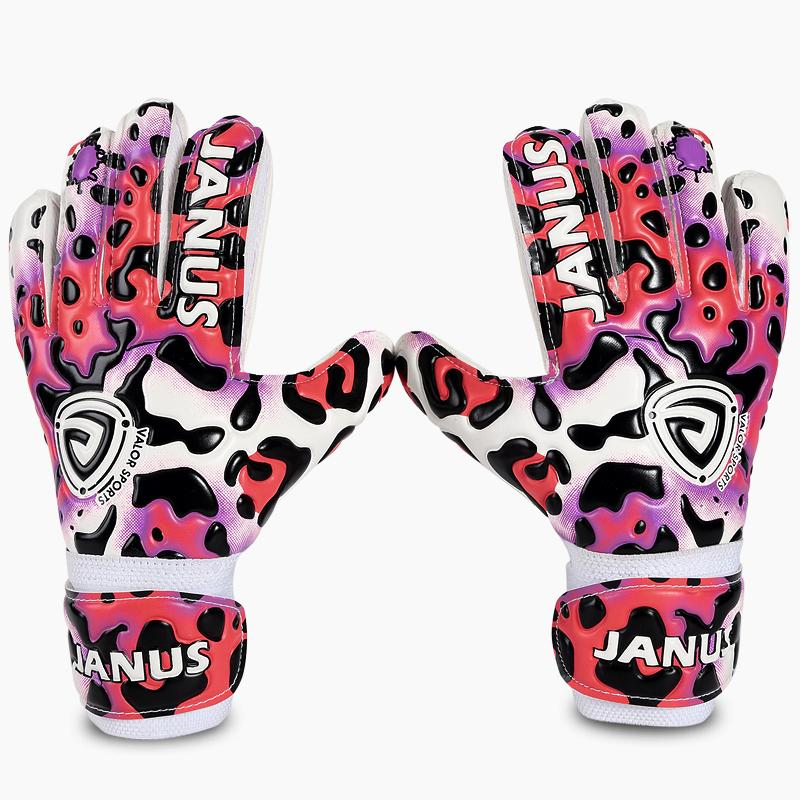 Hot Sale Professional Children Goalkeeper Gloves With Finger Protection Thickened Latex Leopard Print Soccer Goalie Gloves By Fashion Castle.