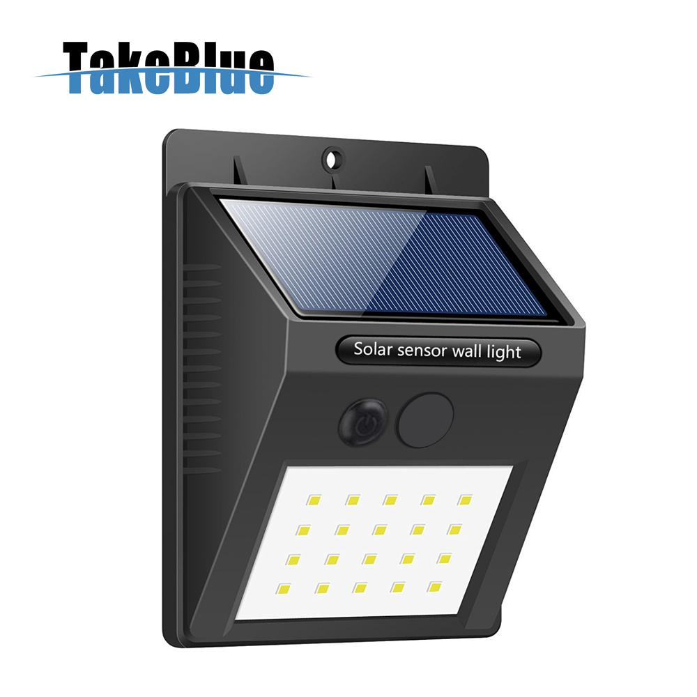 Takeblue 20 Led Solar Lights Outdoor Waterproof Ed Motion Light Wireless Security Outside
