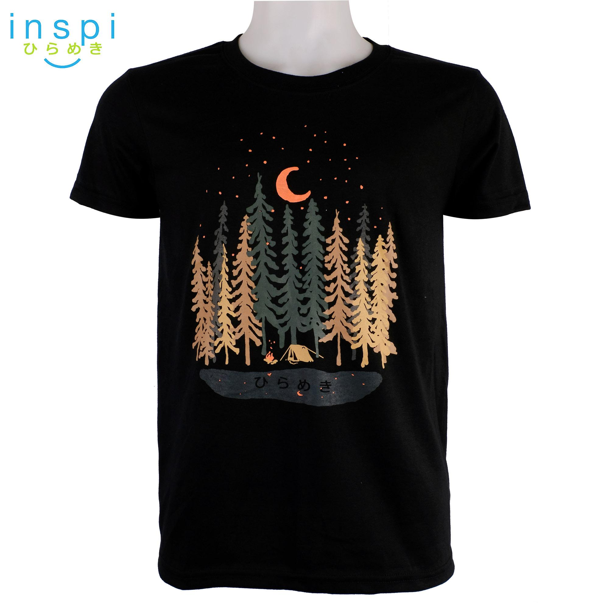 09ad67926877 INSPI Tees Camping Forest (Black) tshirt printed graphic tee Mens t shirt  shirts for