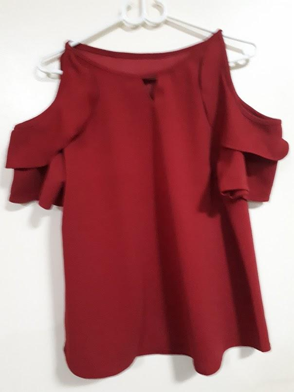 d80e31116fc9 Bakuna Cold Shoulder Plus Size Big Size Summer Top Blouse Lynne