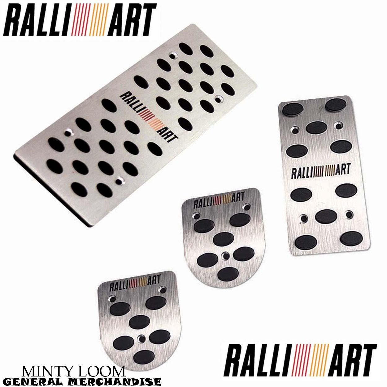 Ralliart Pedal Pads For Manual Transmission (silver) By Minty Loom General Merchandise.