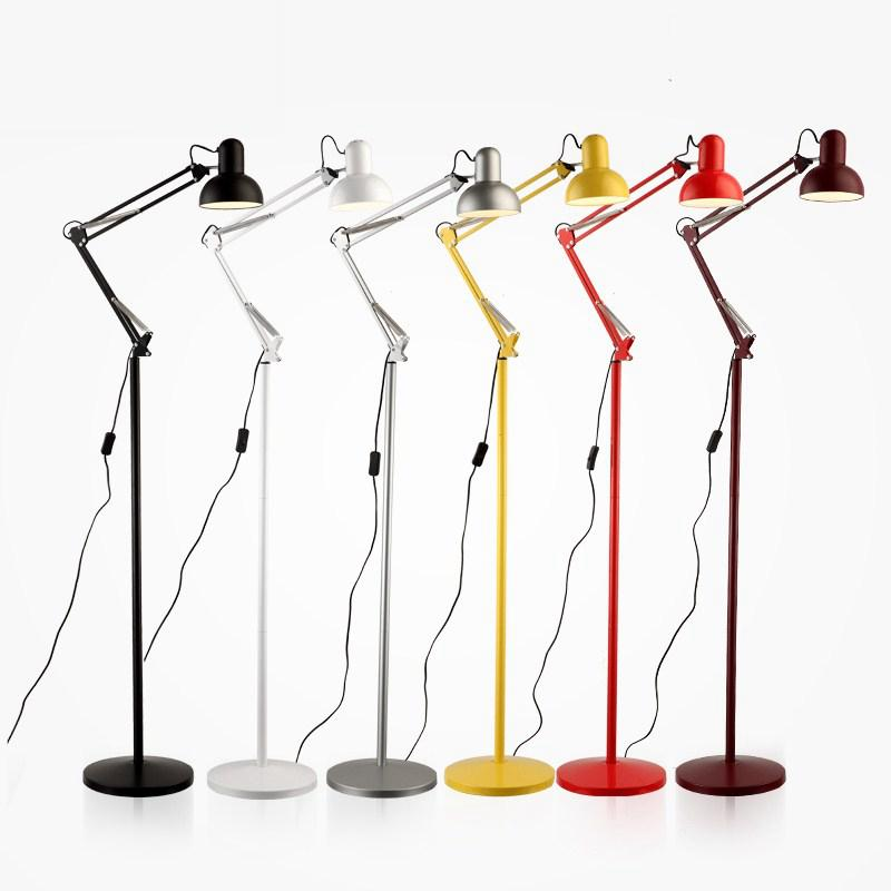 Lamps & Shades Brilliant M Best Price Tall Vintage Retro Stainless Steel Industrial Adjustable Floor Lamp Bedroom Bedside Standard Reading Lighting To Have A Unique National Style