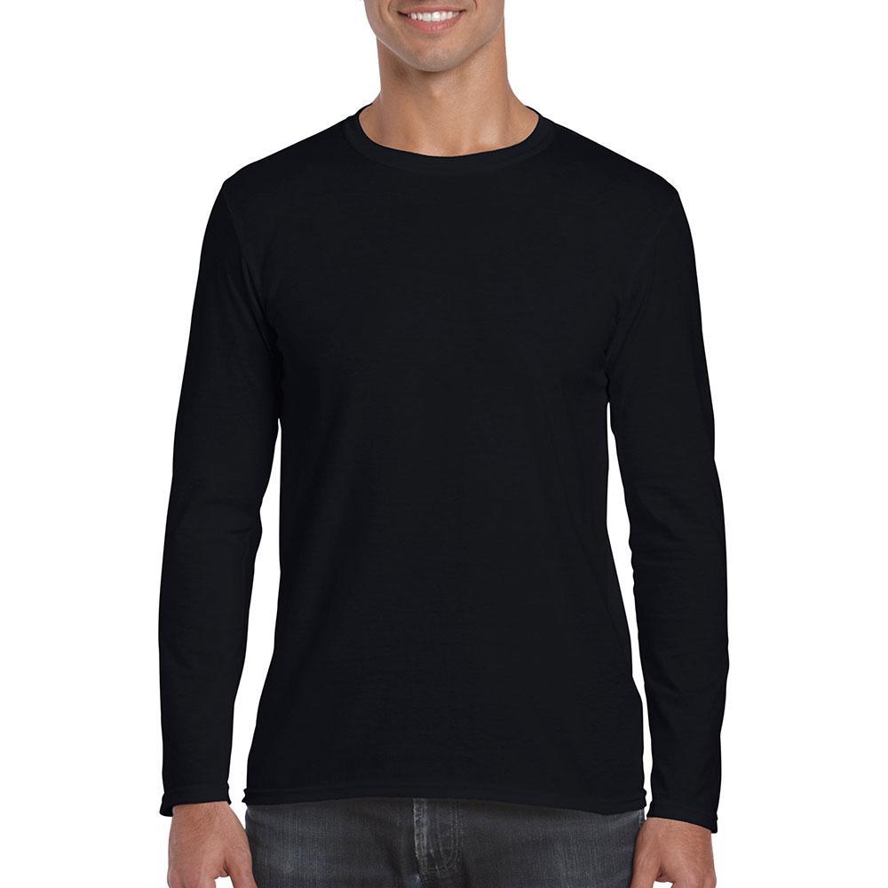 Gildan 76400 Premium Cotton Adult Long Sleeve T Shirt Black