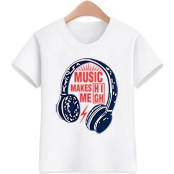 Kid's T-shirt Trending Design Music T-shirt Cotton for Kids and Tees
