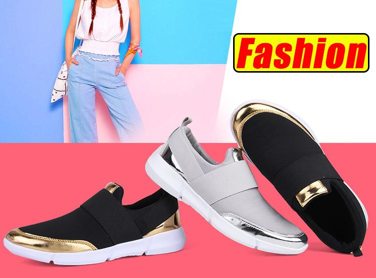 27f82d38eb1 Product details of YEALON Fashion Casuals Shoes Woman Sneakers White  Running Shoes For Women Sneakers Slip On Krasovki Ladies Black Zapatillas  Deportivas ...
