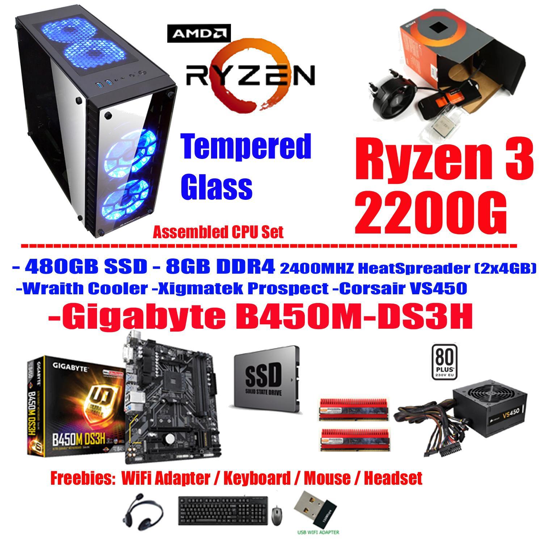 Amd Philippines Price List Processor Desktop For Sale Lazada Prosesor A4 5300 Trinity Socket Fm2 T Squad Tempered Glass Cpu B450 8gb 480 Ssd Ryzen 3 2200g