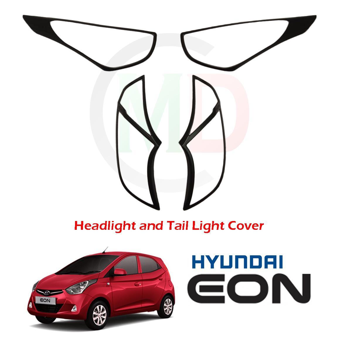 Hyundai Eon 2011-2018 Headlight and Tail light Cover (Matte Black)