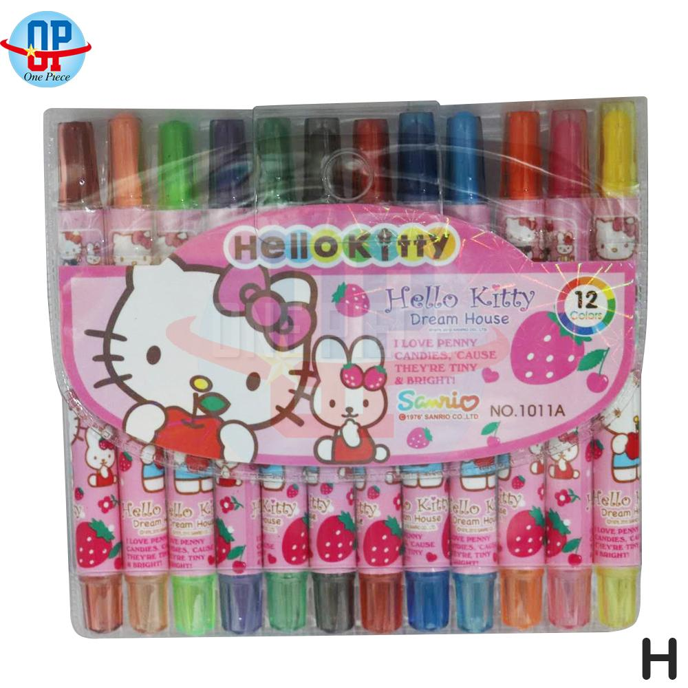 12 Colors Rolling Twist Up School Supplies Crayons (11cm) By One Piece.