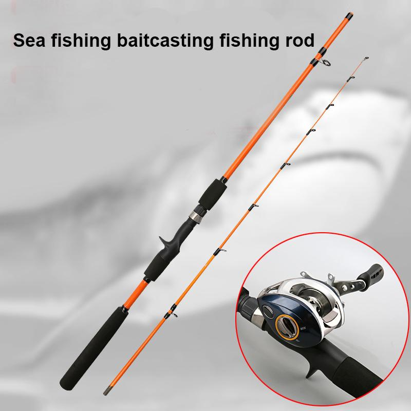 Outdoor camping professional baitcasting fishing rod Tempered glass and Epoxy resin, Excellent strength and toughness