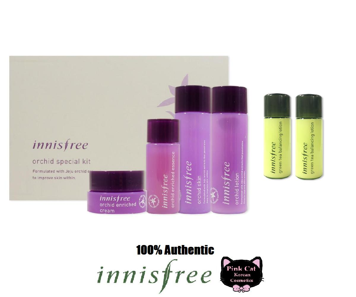 Buy Sell Cheapest Innisfree Orchid Intense Best Quality Product Green Tea Balancing Special Kit 4 Items Korean Cosmetics With Lotion 8ml