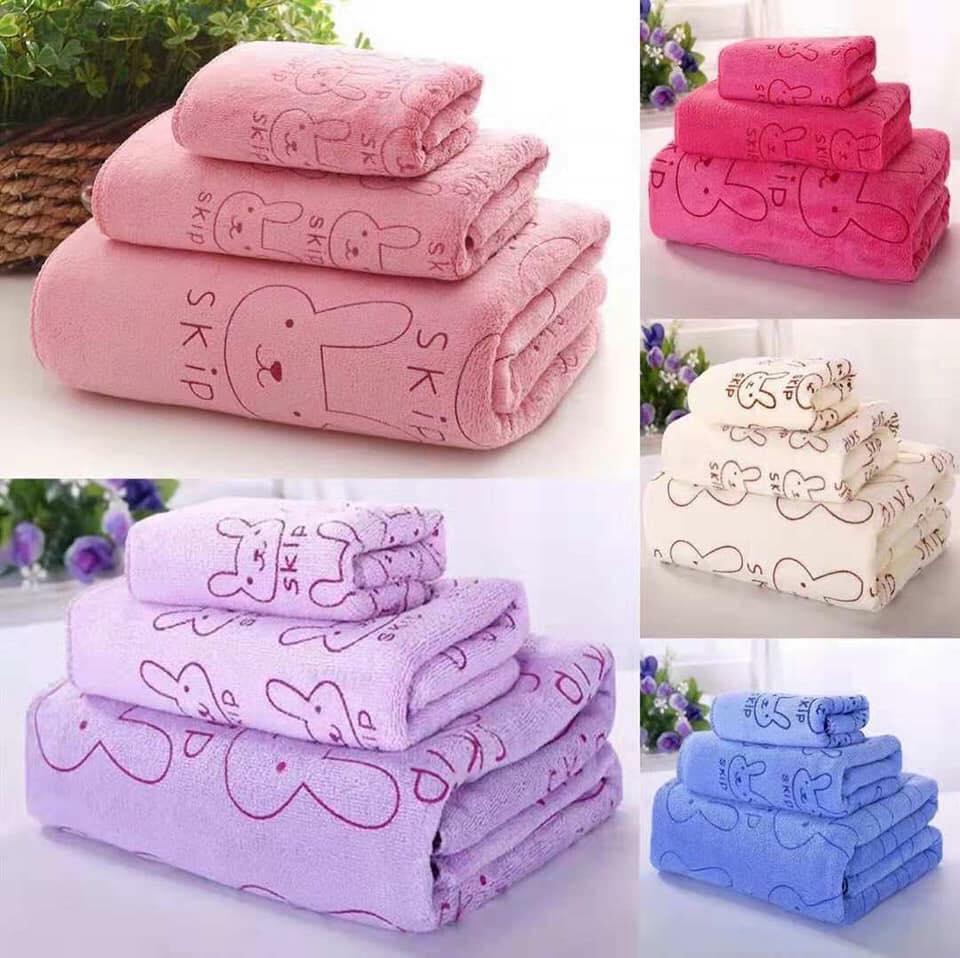 3 In 1 Set Microfiber Absorbent Bath Towel