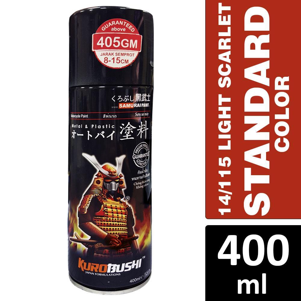 Samurai 14/115 Orange/Light Scarlet (Standard Color) Spray Paint 400ml  [Made in Malaysia]