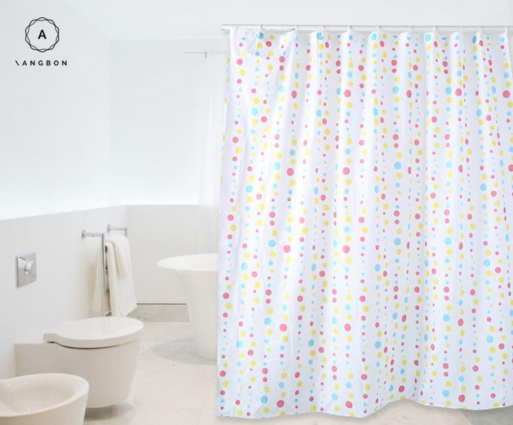 Angbon Shower Curtain Mildew Proof Water Bath Shade PEVA 180180 Cm