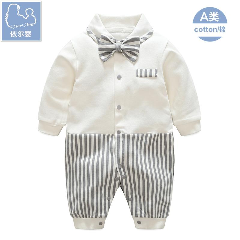 8c7ba38cb Newborn Clothes for Babies Pure Cotton Spring And Autumn man Baby PLANTERS  0-3 A
