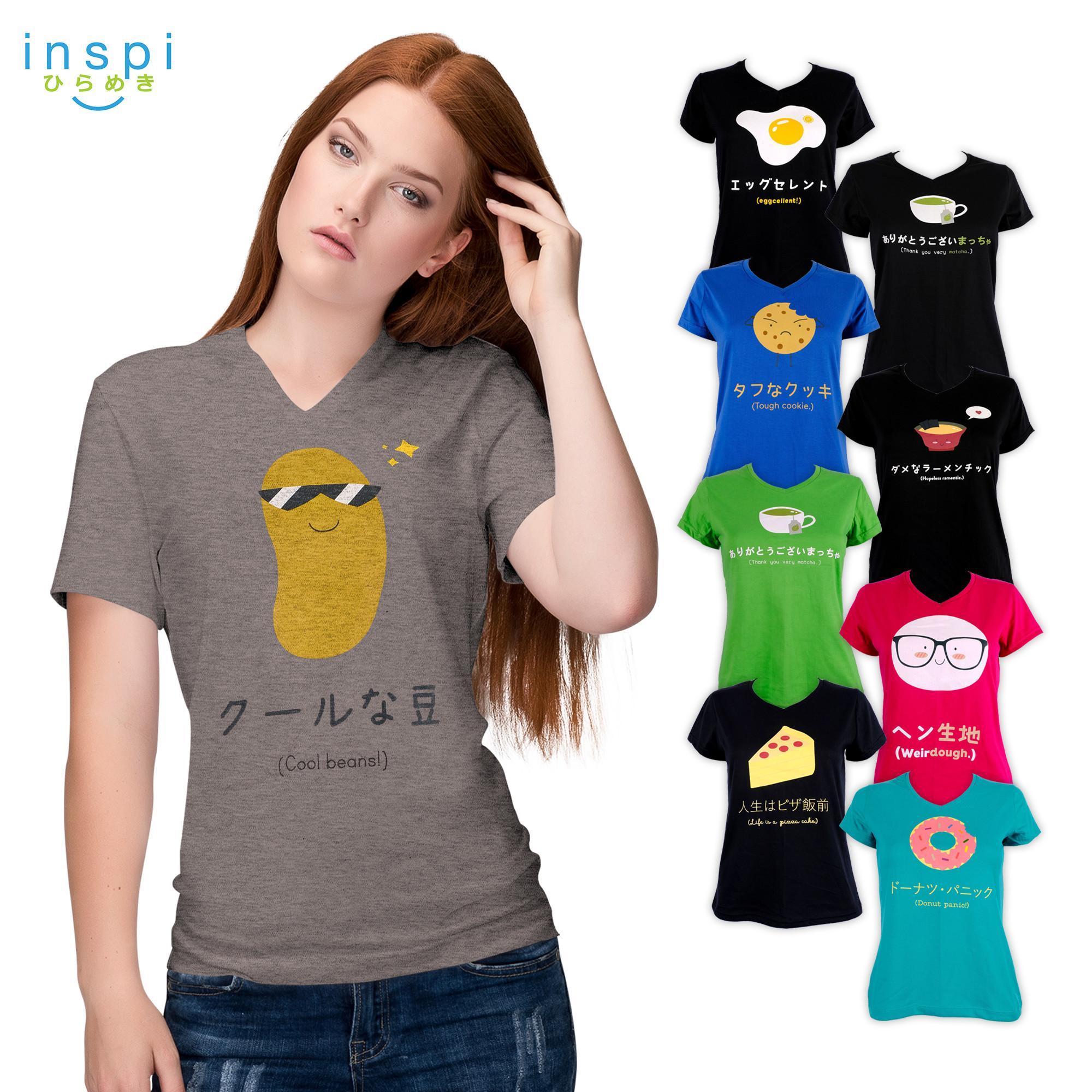 e6c710572cb99 INSPI Tees Ladies Food Pun Collection tshirt printed graphic tee Ladies t  shirt shirts women tshirts