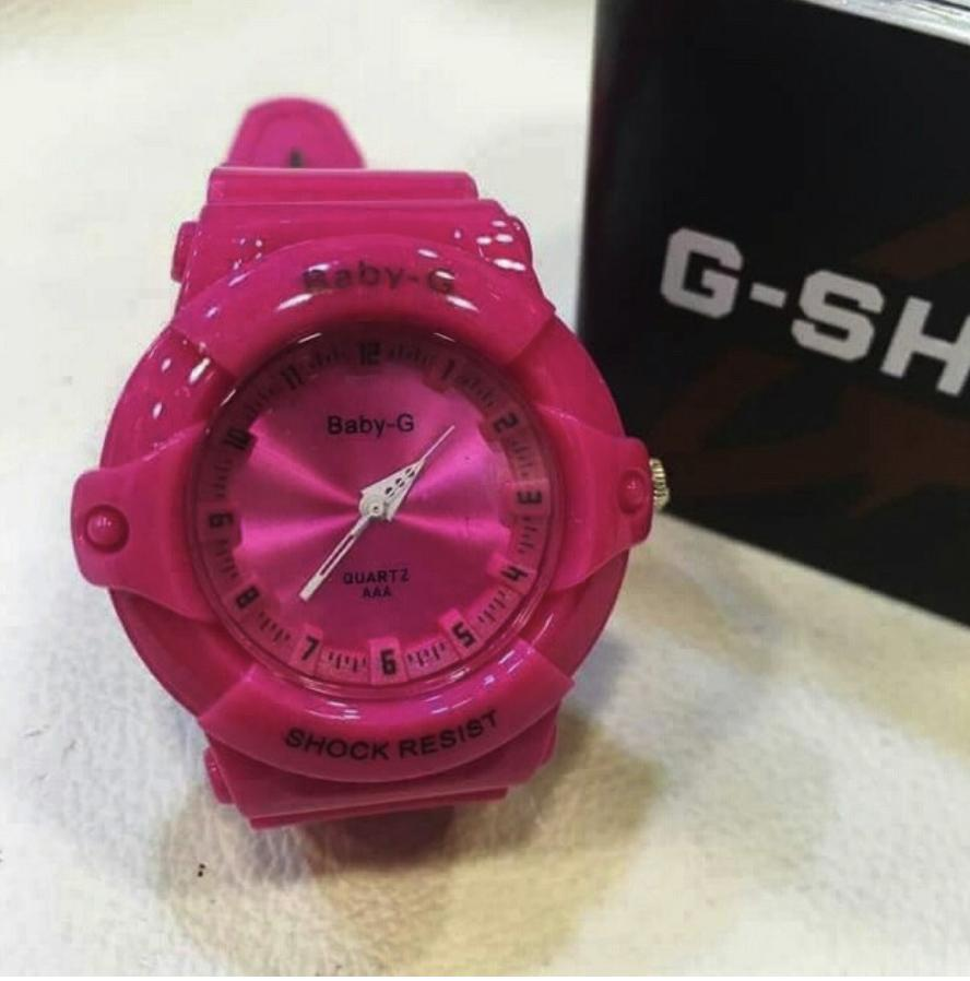 Cod 9colors New Fashion Baby G Watch For Kids Boy/Girl