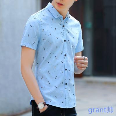 45081a1789d2 Summer Short Sleeve T-shirt Men Fold-down Collar Half Sleeve Slim Fit Polo