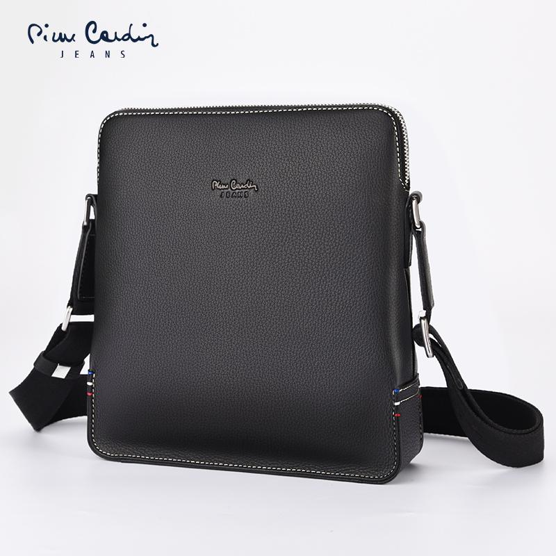 65fba5aada36 Pierre Cardin Shoulder bag bags Men's Real-leather bag bags Men Business  Trend Cowhide Crossbody bag bags ri zi bao Men Casual Backpack