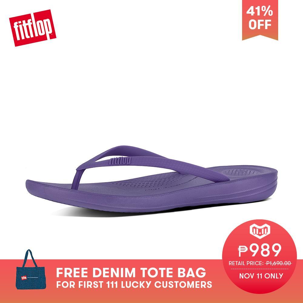 71d96fc4b2f1 FitFlop Women s Sandals E54 IQUSHION ERGONOMIC FLIP-FLOPS BEACH lightweight  comfort fashion New