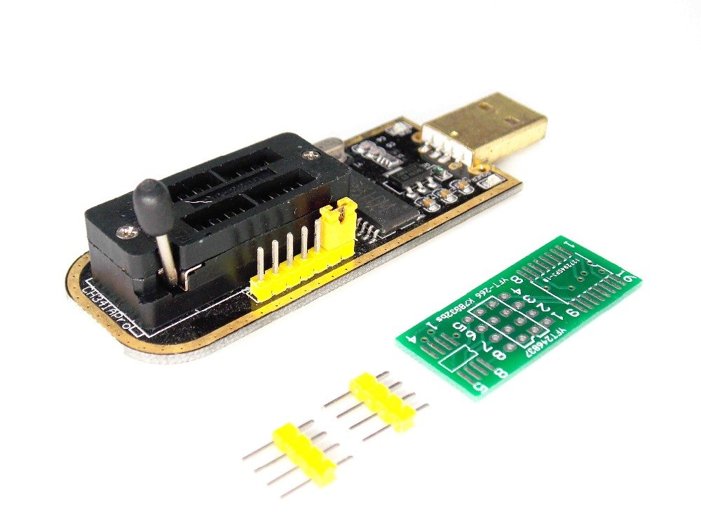popeye CH341A 24 25 Series EEPROM Flash BIOS USB Programmer with Software &  Driver
