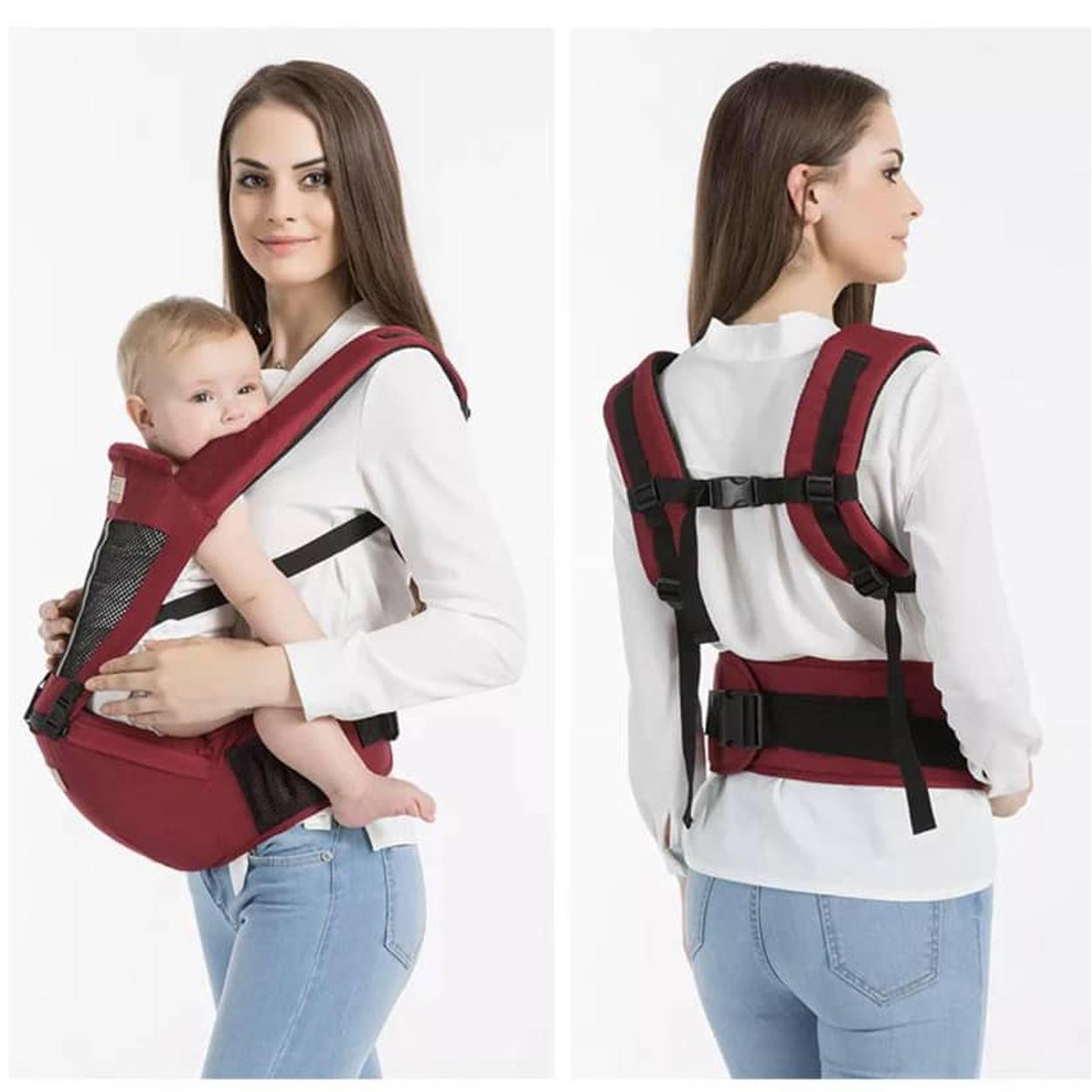 95c37315acf 2 in 1 Breathable Multifunctional Ergonomic Baby Carrier Infant Comfortable Sling  Backpack Hip seat Wrap (