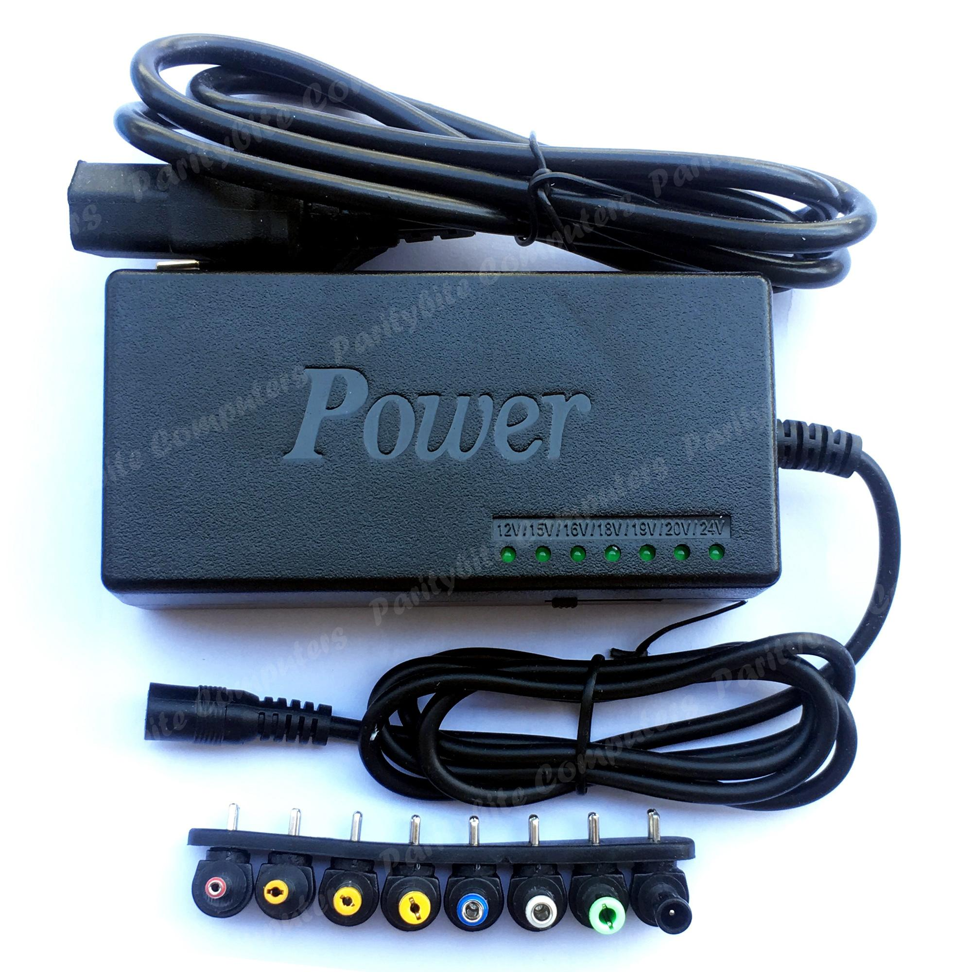 Universal Laptop Charger Adapter 12V-24V Switchable 96watts (black)