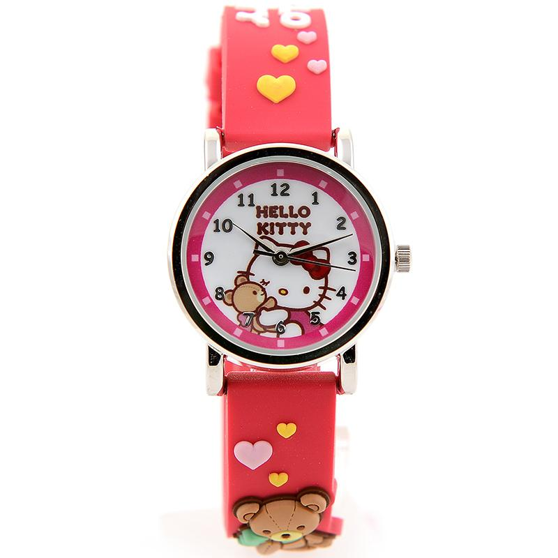 ff609cca4 New Style Product Kids' watch watches girl women KT Gato Negro Leather  Strap watch watches