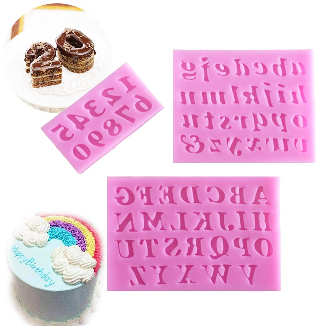 ... Baking Tools & Accessories. 3pcs/set Mini Letter&Number Silicone Handmade Fondant Cake Decorating DIY Mould Mold - intl