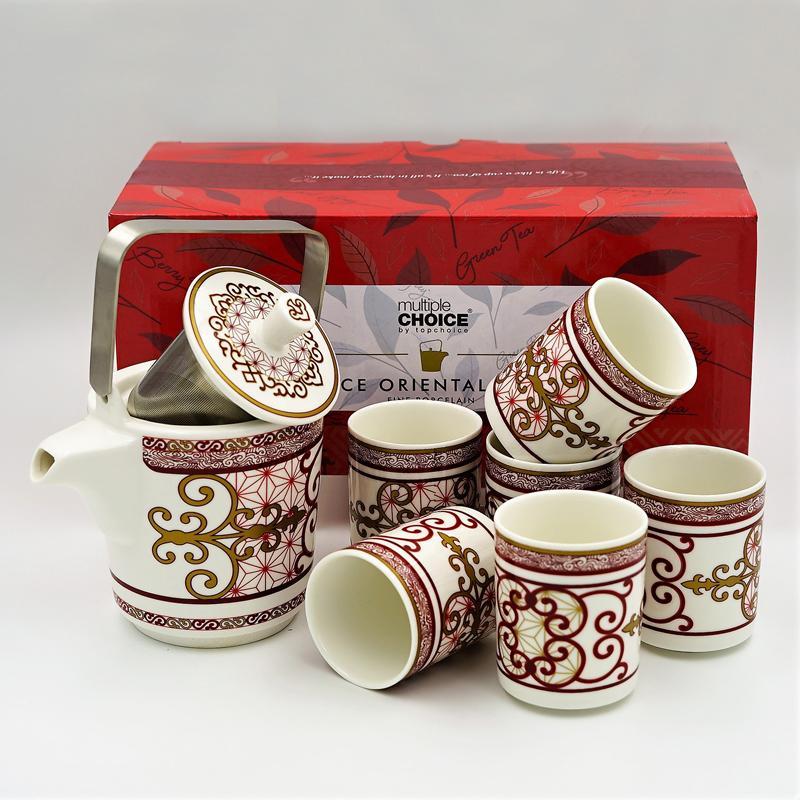 Multiple Choice 8pc Oriental Tea Set - Ruyi