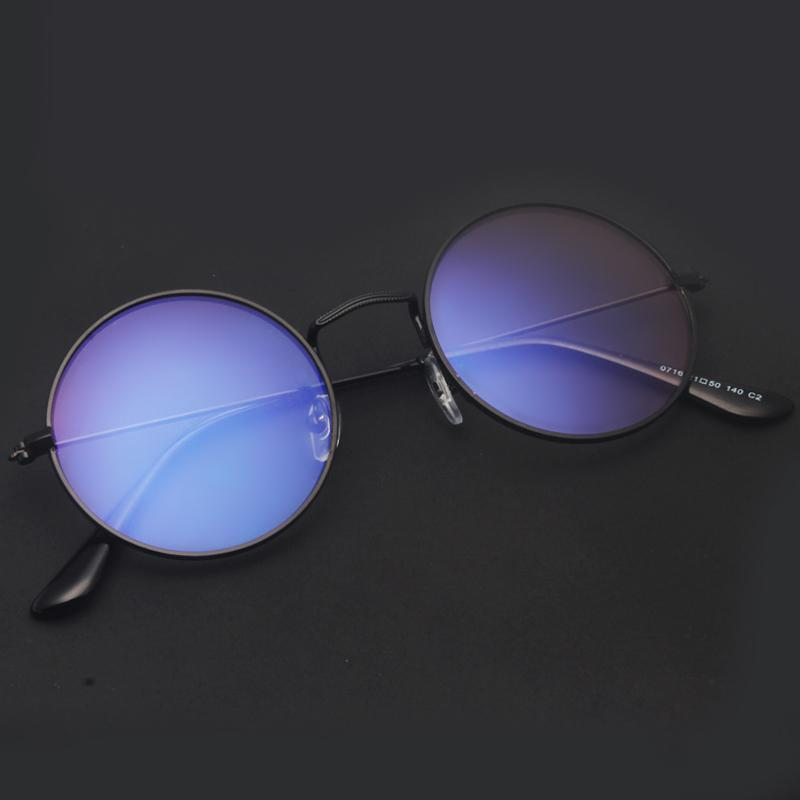 80fb885aae Radiation Protected Glasses man Blueray No Alcohol by Volume Gold Lines  Plane Mirror women Korean Style