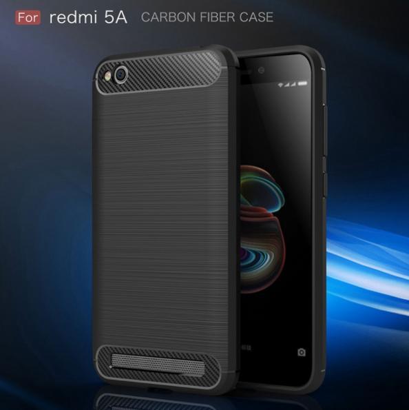Carbon Fiber Brushed Soft TPU Case for Redmi 5A
