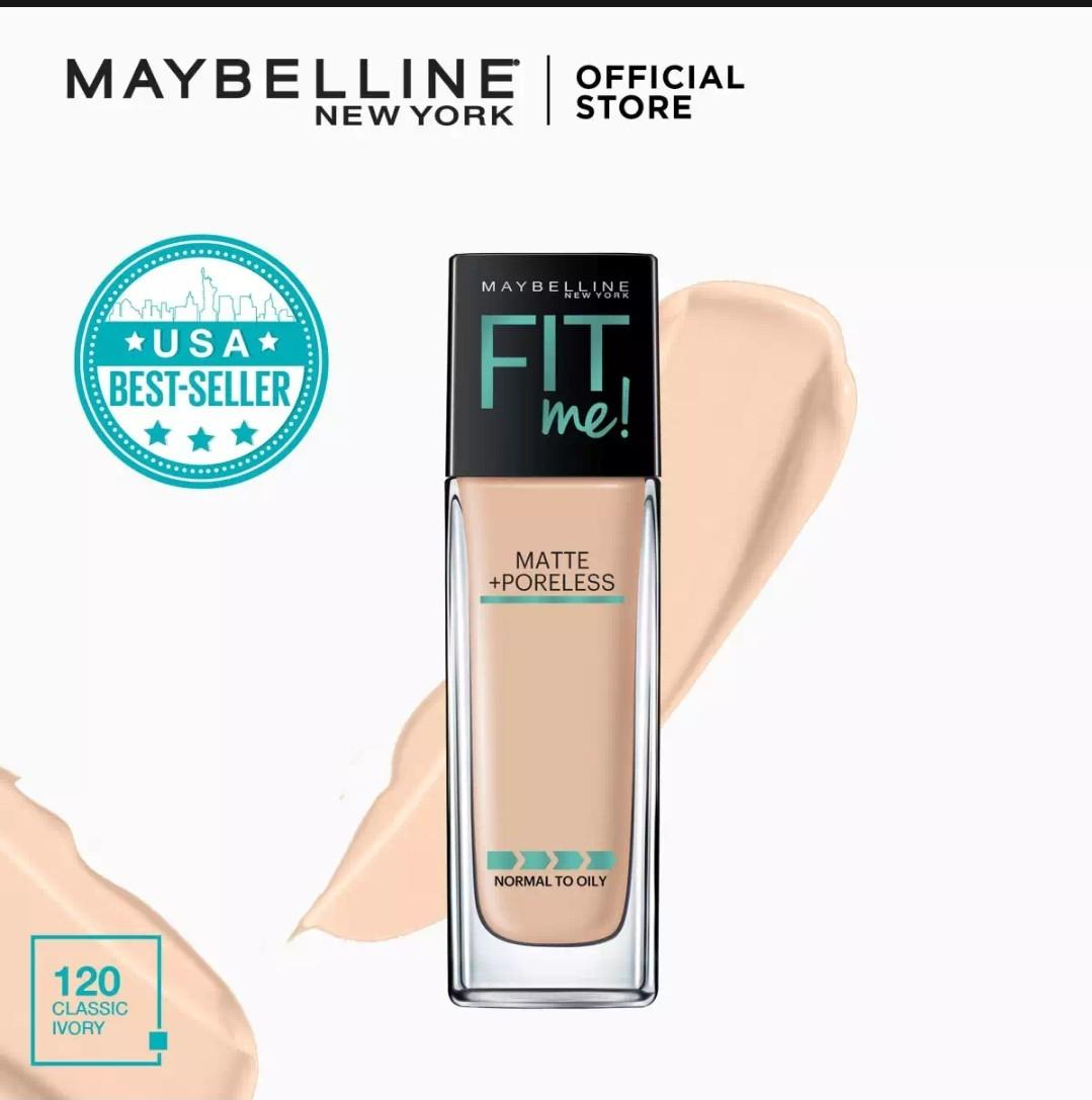 FIT ME MATTE + PORELESS LIQUID FOUNDATION - 120 CLASSIC IVORY Philippines