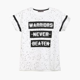 Dude Boys Warriors Never Beaten Statement Tee (White)