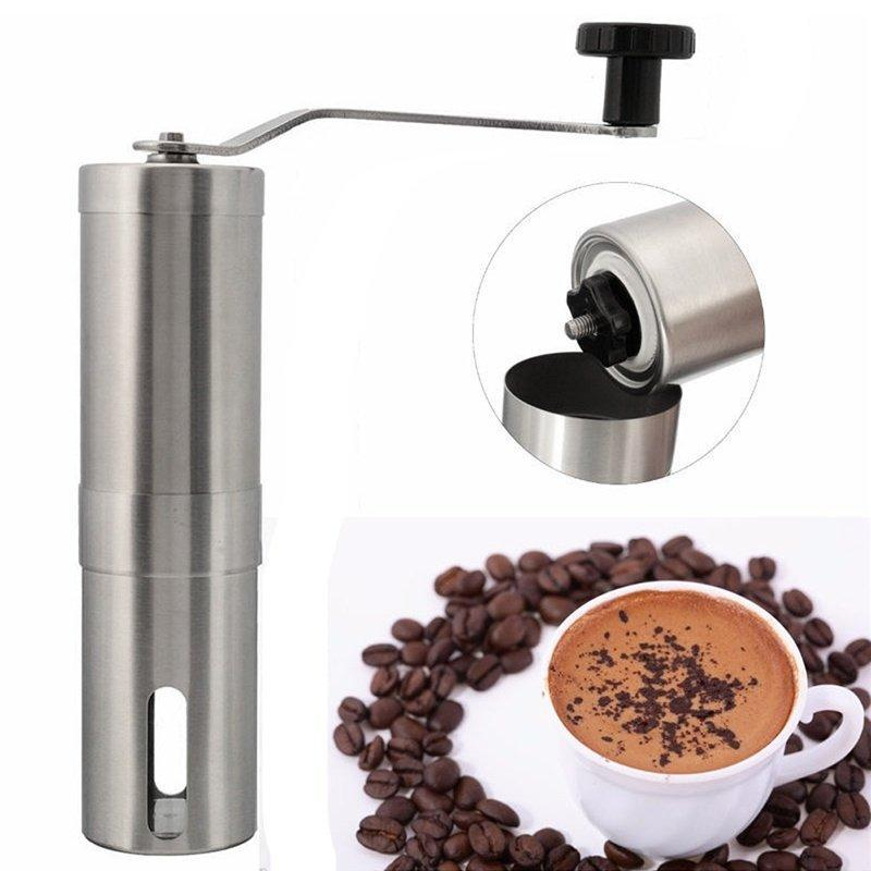 Manual Coffee Grinder Hand Held Stainless Steel Adjustable Burr Coffee Grinder Machine By Big Bash.