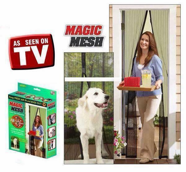 Hbm Magic Mesh Instant Screen Door (black) By Harvestblessed1.
