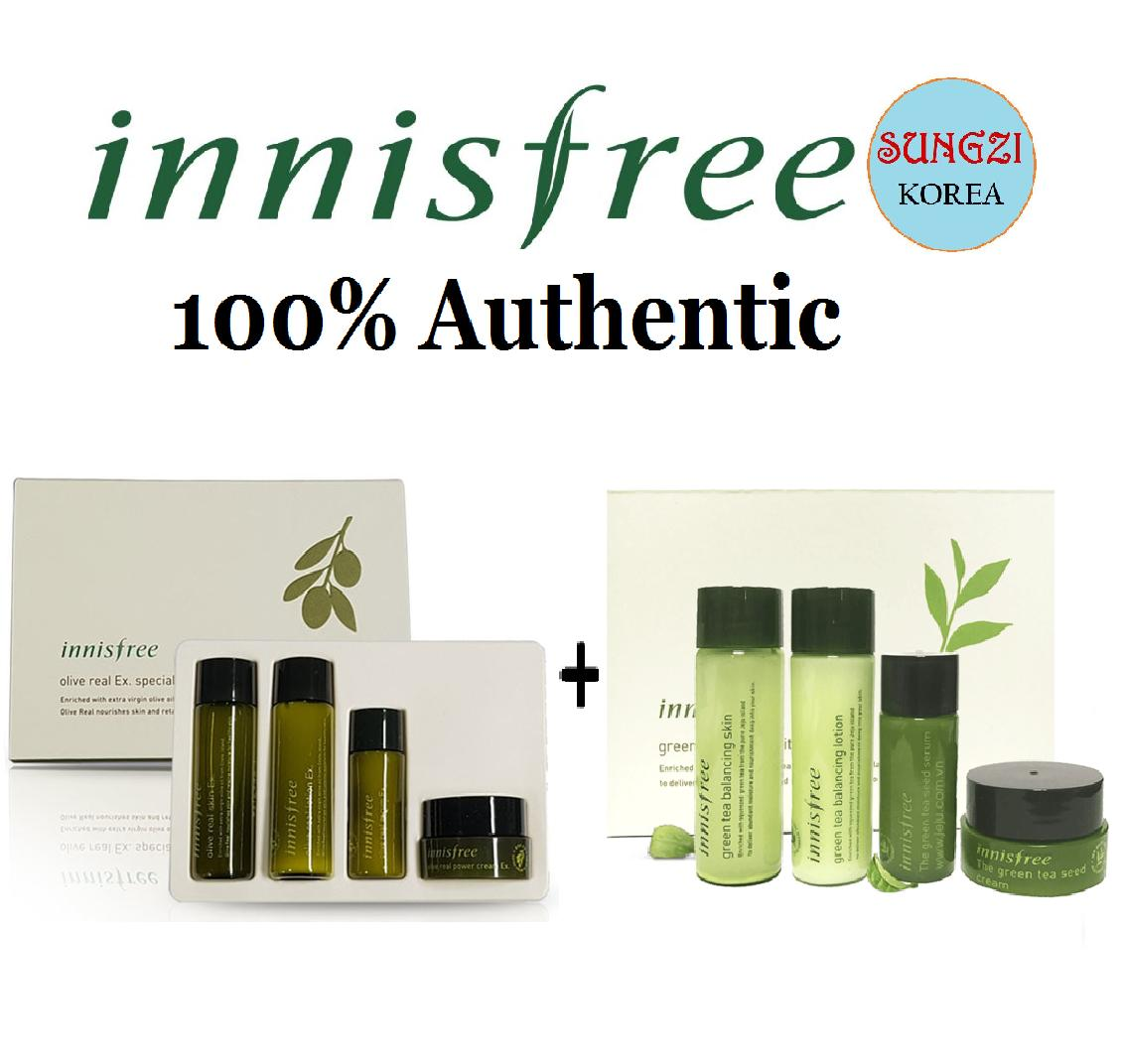 Skincare Sets Brands Gift On Sale Prices Set Innisfree Green Tea Balancing Special Kit 4 Items 4items Olive Real Ex