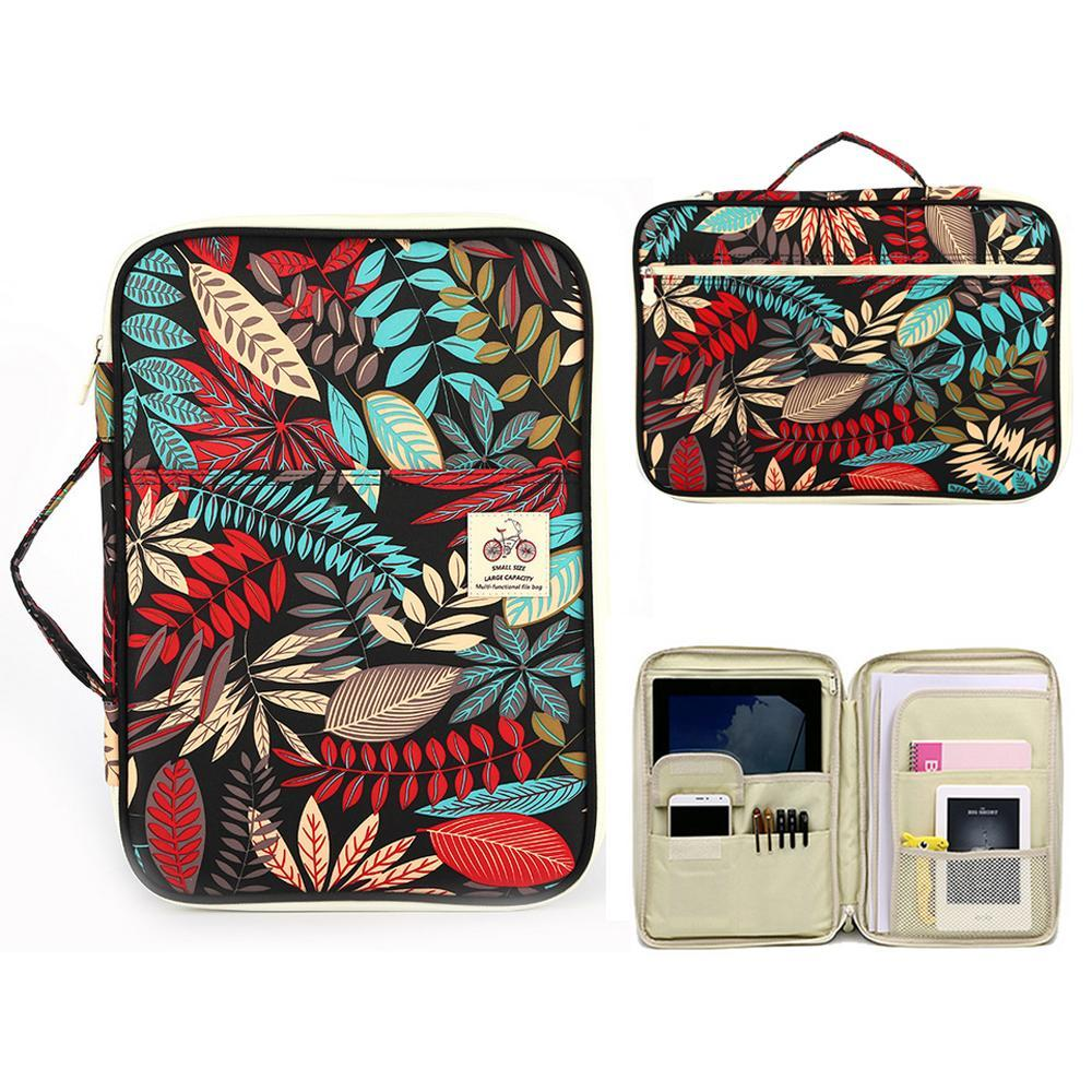 Niceelarge Capacity A4 Doent Bags Portfolio Organizer Waterproof Travel Zipper Case For Ipads Notebooks