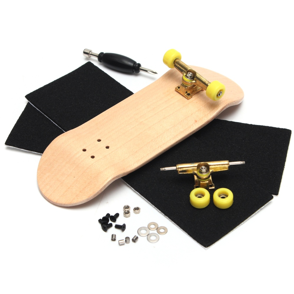 【Hot Deal】Basic Complete Wooden Fingerboard Finger Scooter with Bearing  Grit Box Foam Tape - intl