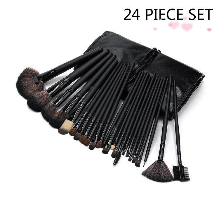 High Quality Makeup Brush Set/24pcs Professional Makeup Brushes Set/cosmetic brush/Cosmetic pen/Makeup suits/Makeup Brushes & Sets (Black) Philippines