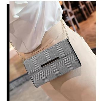Moys Korean Celestre Checkered Clutches Longstrapped Bag