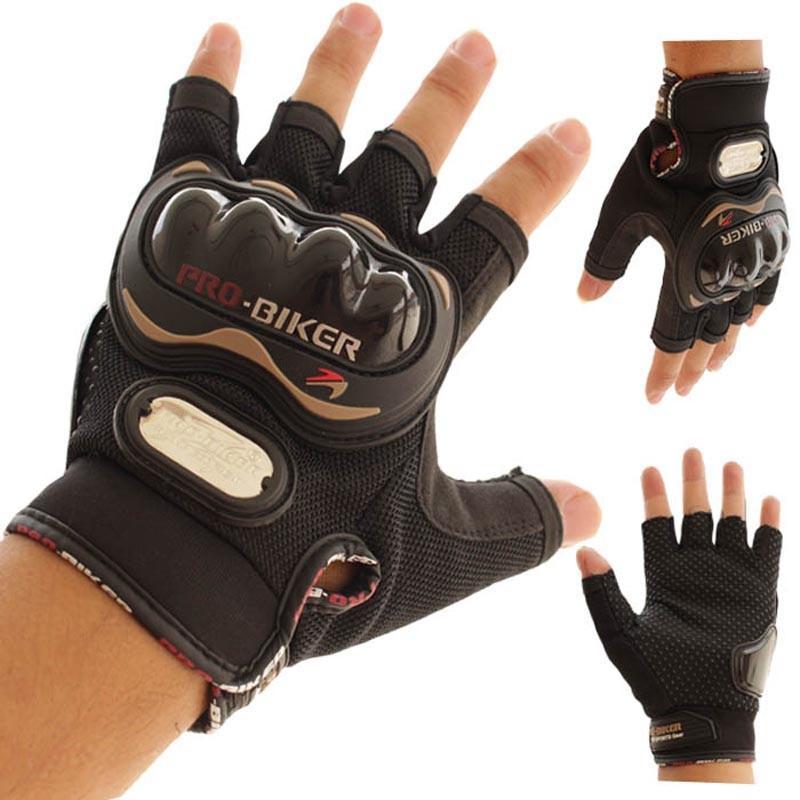 Pro Biker Motorcycle Half Finger Gloves By Voto