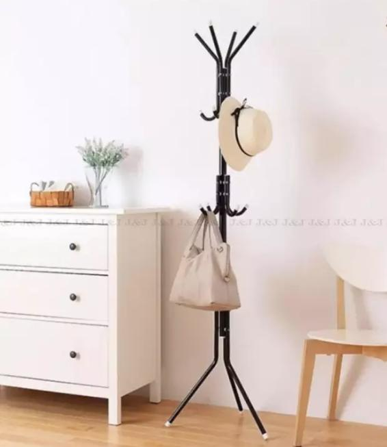 12 Hook Hanging Pole Rack Clothes Hanger Coat Stand Storage By Bodybuy.net.
