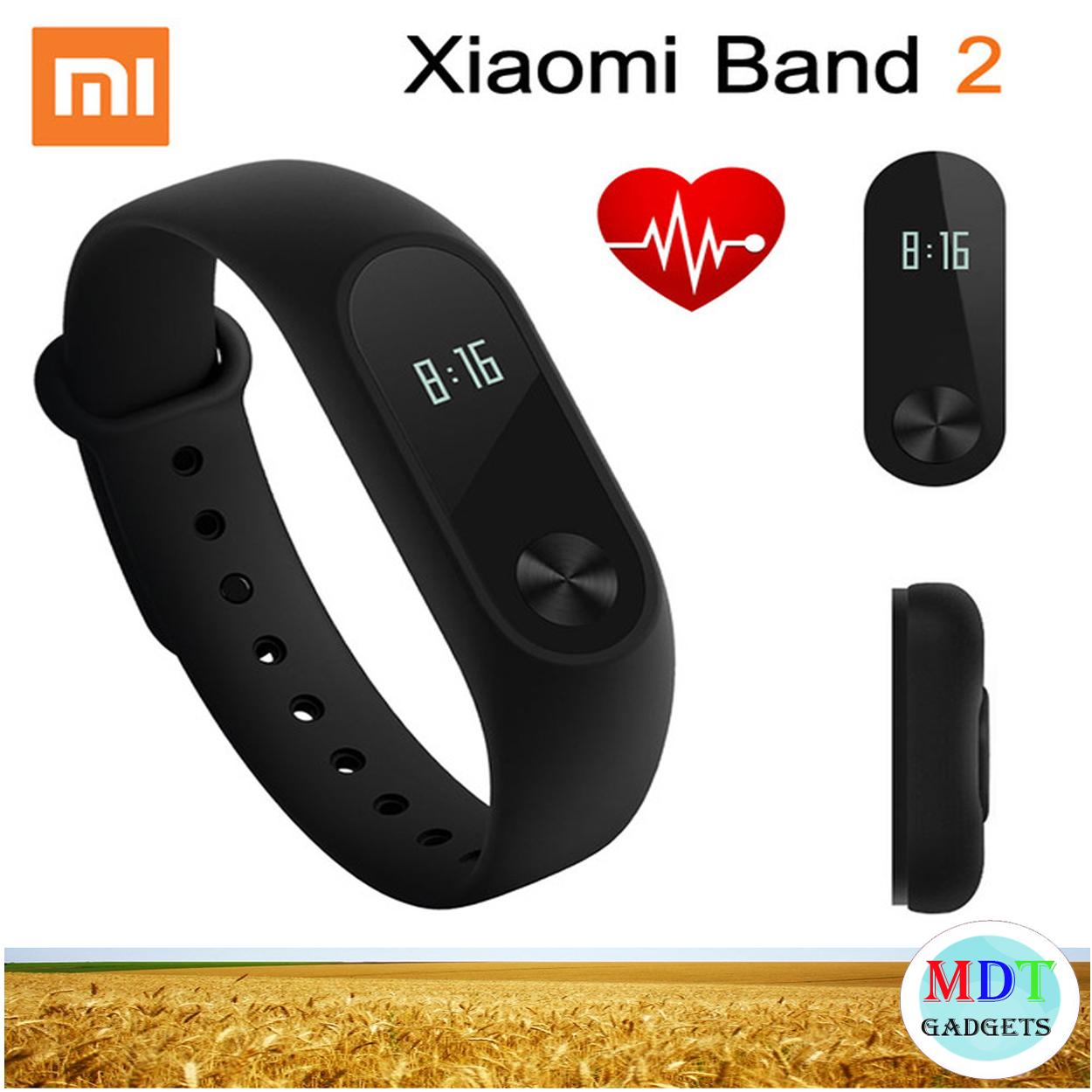 Xiaomi Mi Band 2 Smart Heart Rate Monitor Fitness Tracker (Black)